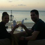 Dinner on the beach at sunset (proposal)