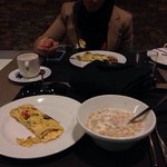 Breakfast .. Delicious but crowded!