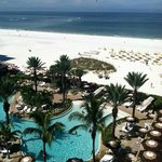 View from our room at the Sand Pearl in September, 2014.
