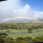 Room view of the mountains/golf course. Always rainbows!