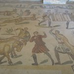 One of hundreds of marvelous mosaics found at the recently restored Roman villa.