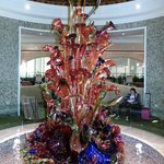 Blown glass in one of the hotel areas