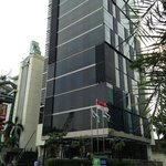 Hotel exterior, just off Thamrin