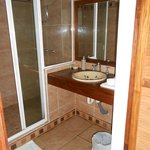 Clean Bathroom with large shower
