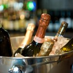 Great selection of beers, wines and champagnes