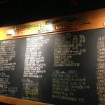Each day's menu is on the chalk board.