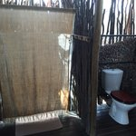 Outdoor shower and toilet