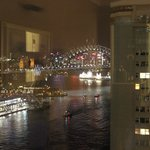 Nite view from room (a little blurry)