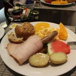 Breakfast (buffet) at the hotel