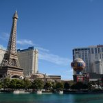 View of Planet Hollywood and Paris from the Bellagio