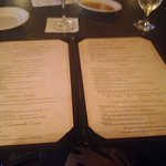 "the menu at ""A Touch of Italy"""