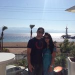 Me and my wife on the balcony of orchid hotel eilat