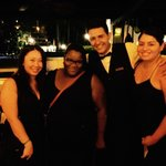 With our AWESOME waiter David