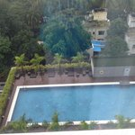 A view of pool from the room