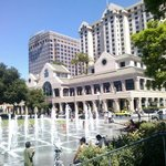 Fountains with Fairmont Hotel in the background