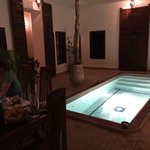 Plunge pool by night