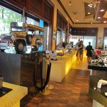 the classic jeepney model display at the coffeeshop