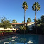 Poolside at Colony Palms.