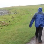 A very wet walk back to Craster