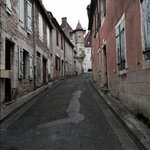 the quiet streets of Gramat