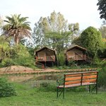 Wildebeest Eco Camp Deluxe Tents on raised platforms - Nairobi Kenya