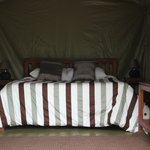 A double tent at Wildebeest Eco Camp - Nairobi, Kenya
