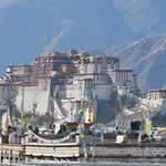View from our rooftop - Potala Palace