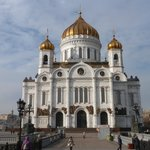 Cathedral of Christ the Savior, view from the bridge.