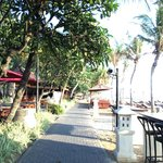 Beach sidewalk to other hotels and restaurants