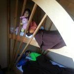 Kids loved the bunk beds!