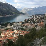View of Kotor from above the town.