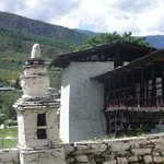 The traditional bridge across the river at Paro Dzong