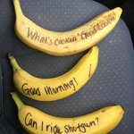Fun bananas at breakfast