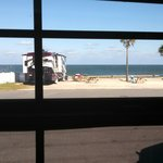 The view from our kitchen... All beach!