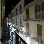 Evening in the Via San Cesareo from the balcony of room 104