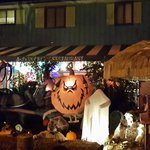 Front entrance at Halloween
