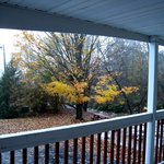View From my Room, Cozy Corner Motel -- brook, picnic table
