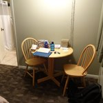 Dinette table and chairs in room