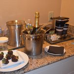 Treats at the Hilton before going to bed