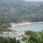 View from Bombom Island to the resort and both beaches!