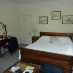 Our bedroom with sleigh bed