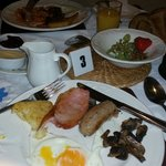 The free breakfast, there was also cerials, fruot juices, fruit, yoghurt, dried fruit and more