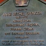 Signage about Anne Spencer