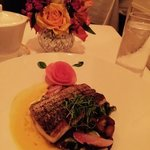 Stripped Bass Entree at Xaviers at Piermont