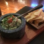 Guacamole made at the table