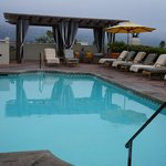 Rooftop pool early Am in the fog