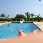 Picture from lounger over looking pool
