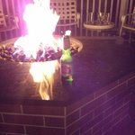 Fire pit at the Virginia Crossings bar at night