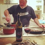 """A Full Kitchen....""""Big Chill"""" cookin' with the hubby!"""