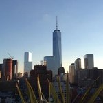 View of The freedom Tower from The James rooftop bar